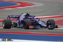 Drivers discussed 'lip biting' bumps on COTA surface