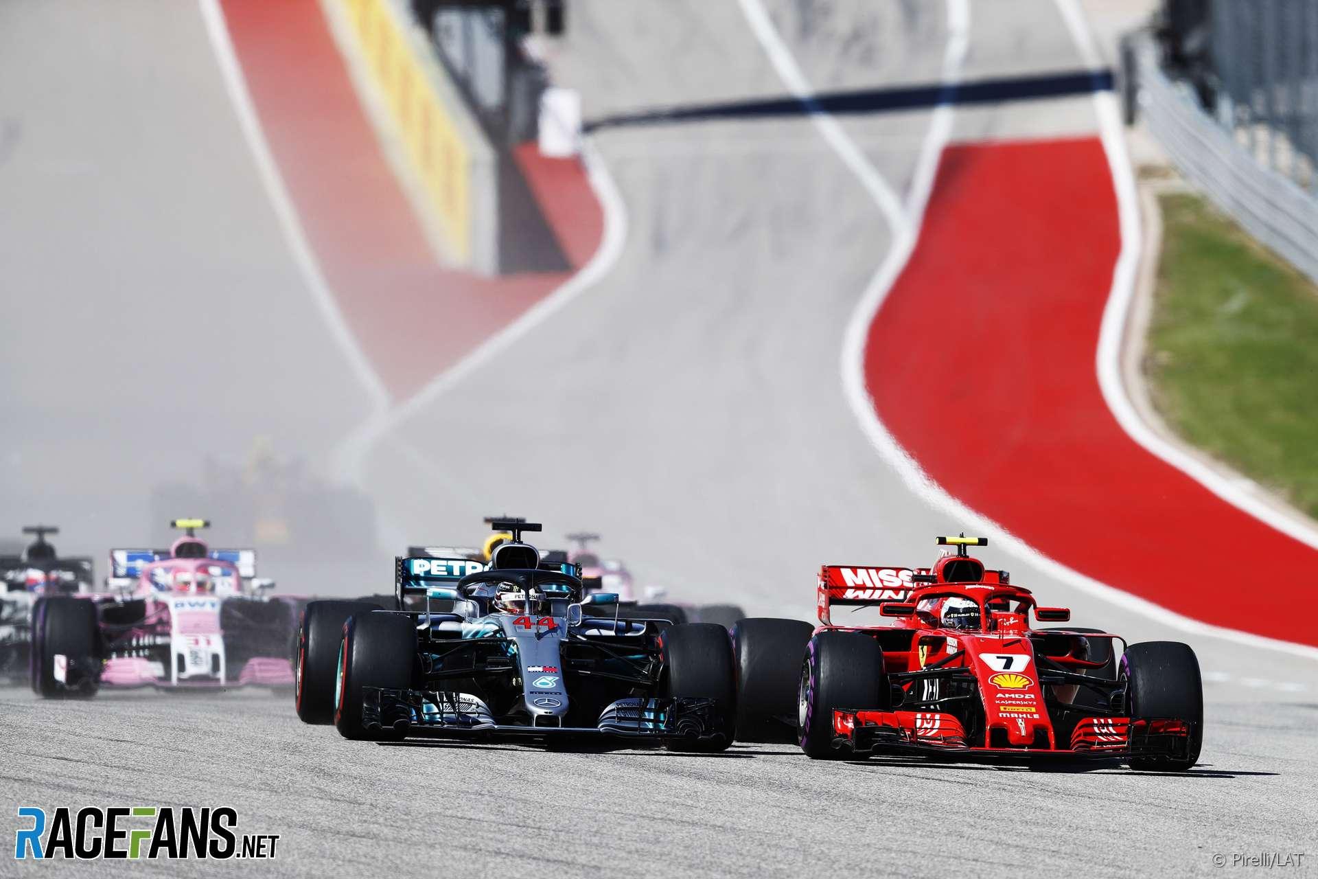 Lewis Hamilton, Kimi Raikkonen, Circuit of the Americas, 2018