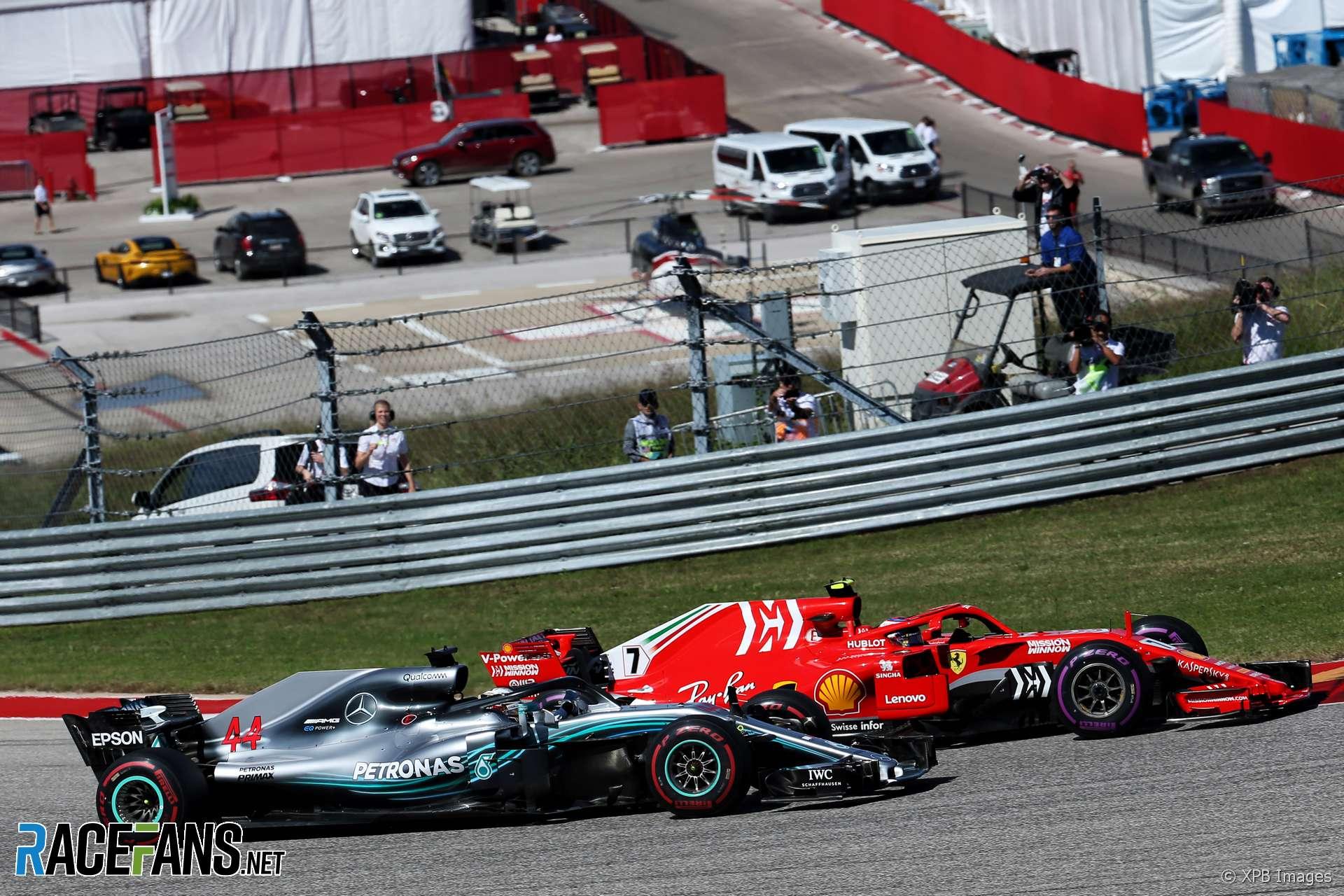 Kimi Raikkonen, Lewis Hamilton, Circuit of the Americas, 2018