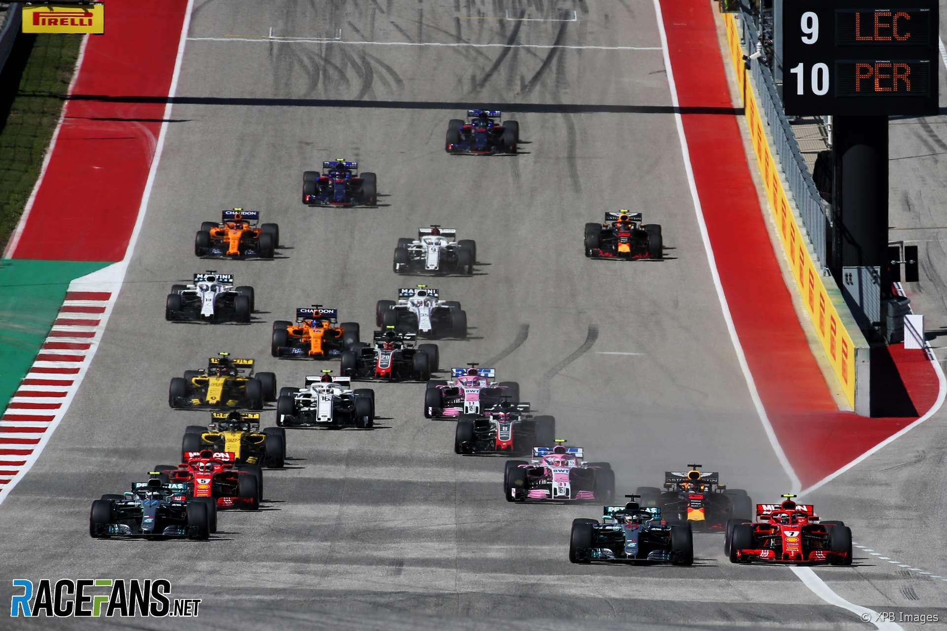 Start, Circuit of the Americas, 2018