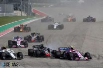 Charles Leclerc, Romain Grosjean, Esteban Ocon, Circuit of the Americas, 2018