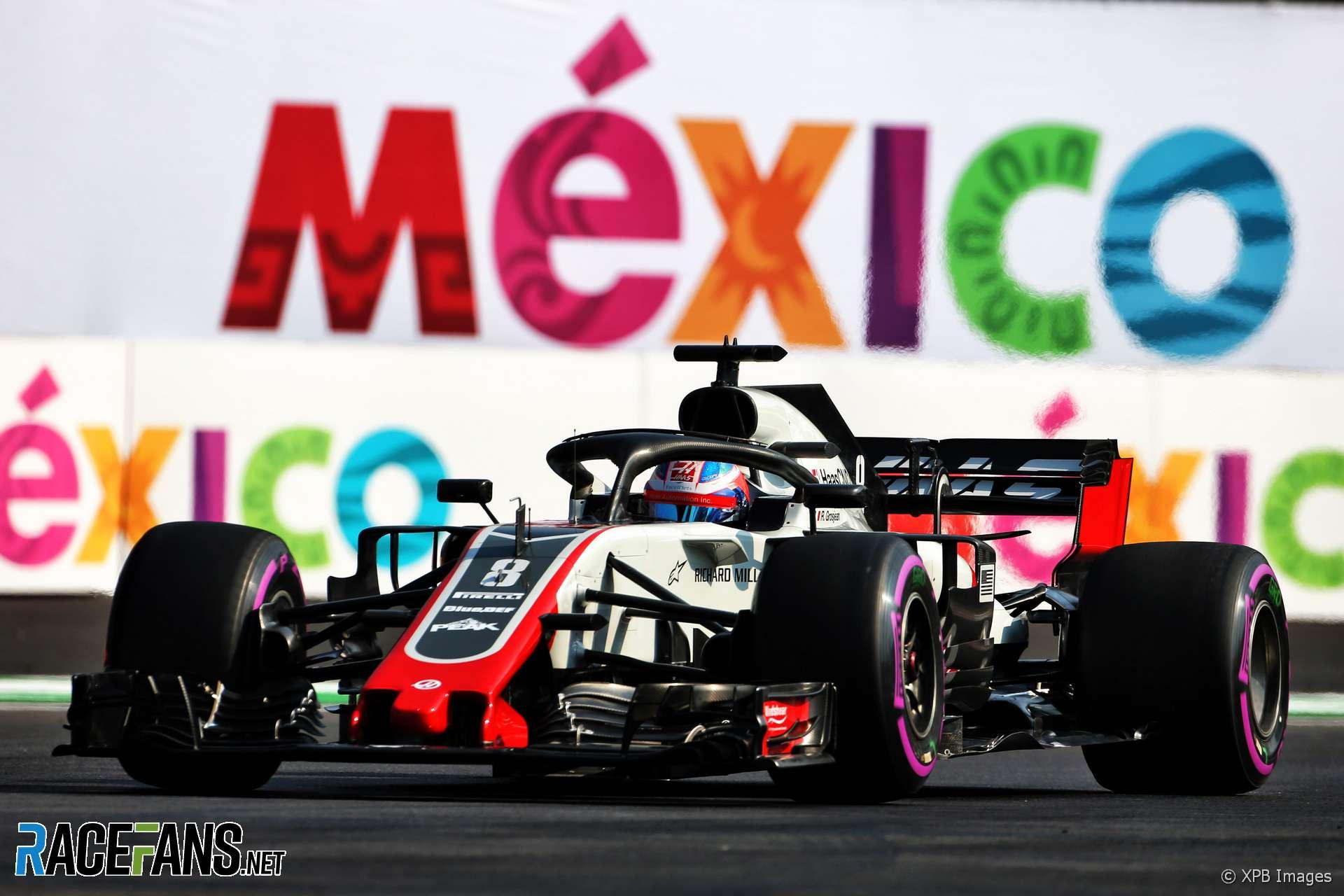 Romain Grosjean, Haas, Autodromo Hermanos Rodriguez, 2018