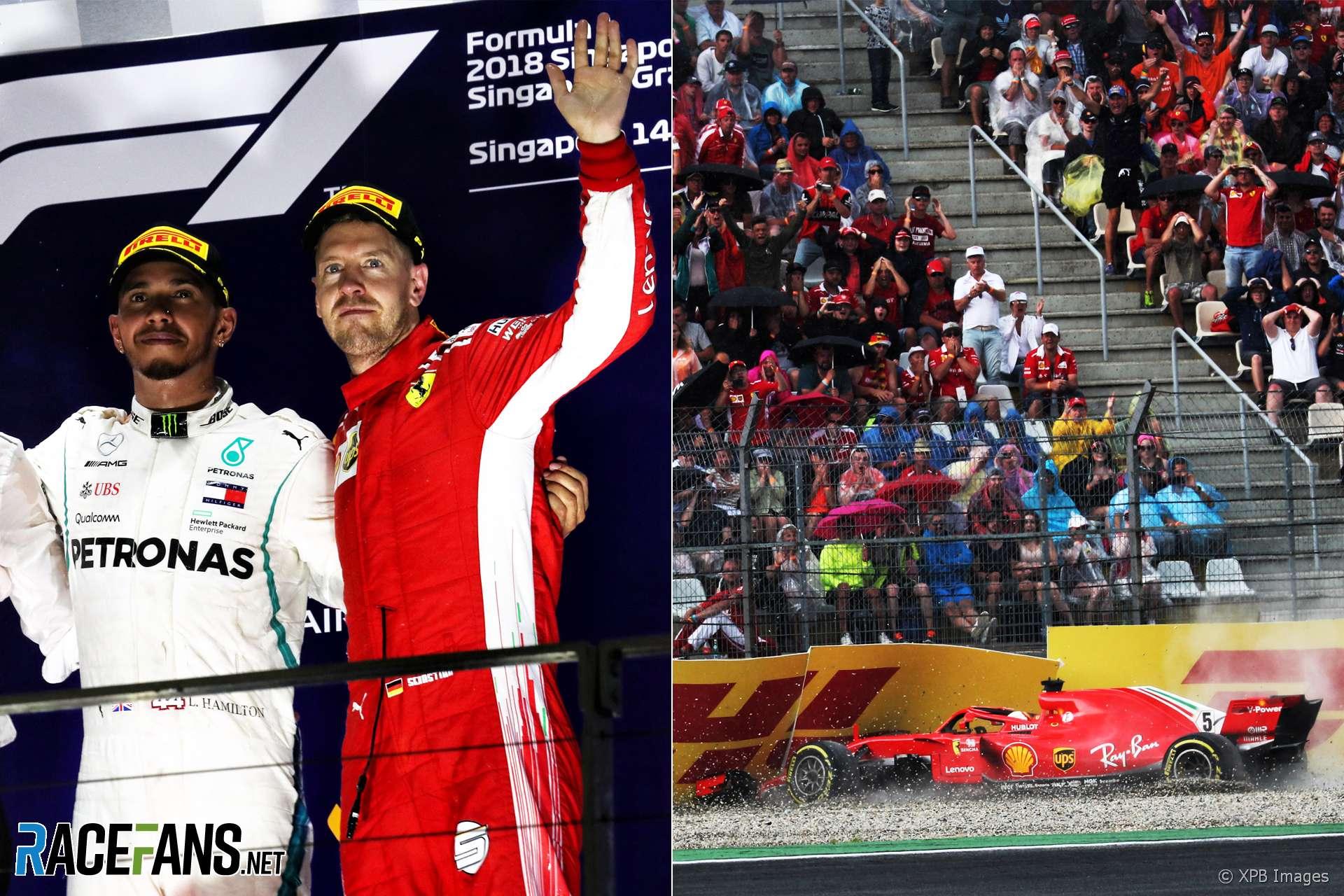Vettel Singapore and Hockenheim, 2018