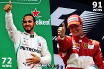 Hamilton takes 19th win in two years, needs 19 more to equal Schumacher