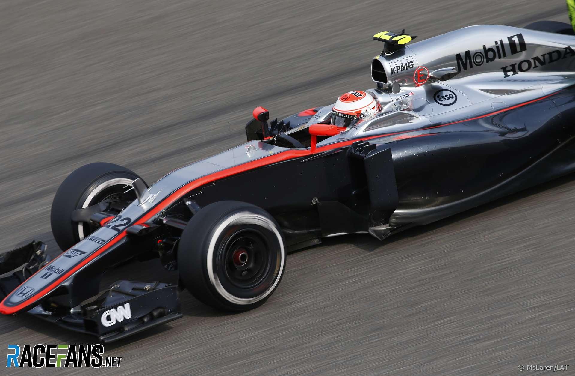 Jenson Button, McLaren, Shanghai, 2015