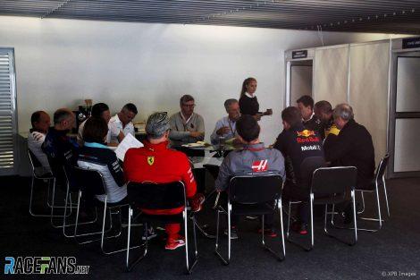 Chase Carey meets the team principals, Interlagos, 2018