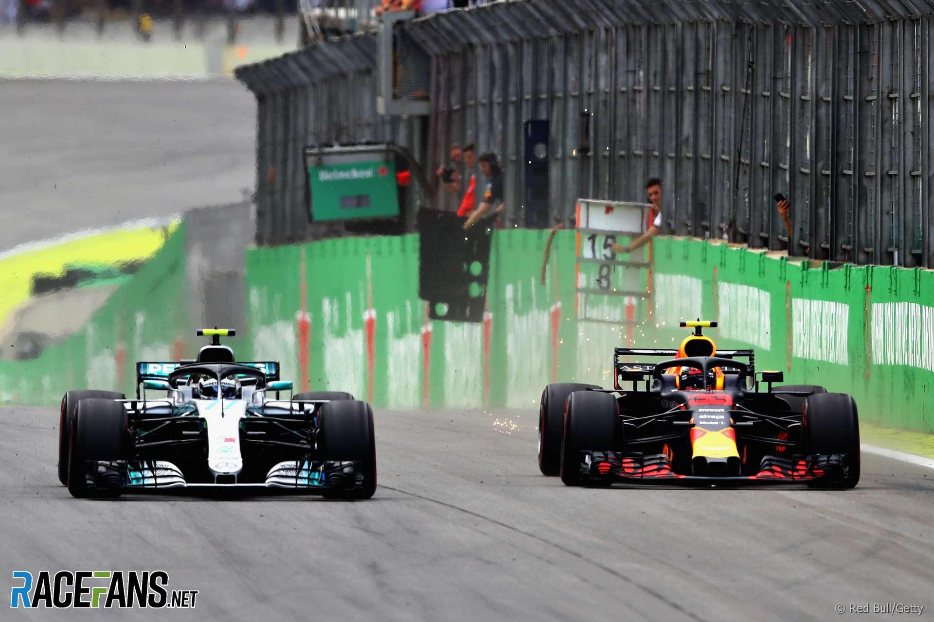 Valtteri Bottas, Max Verstappen, Interlagos, 2018