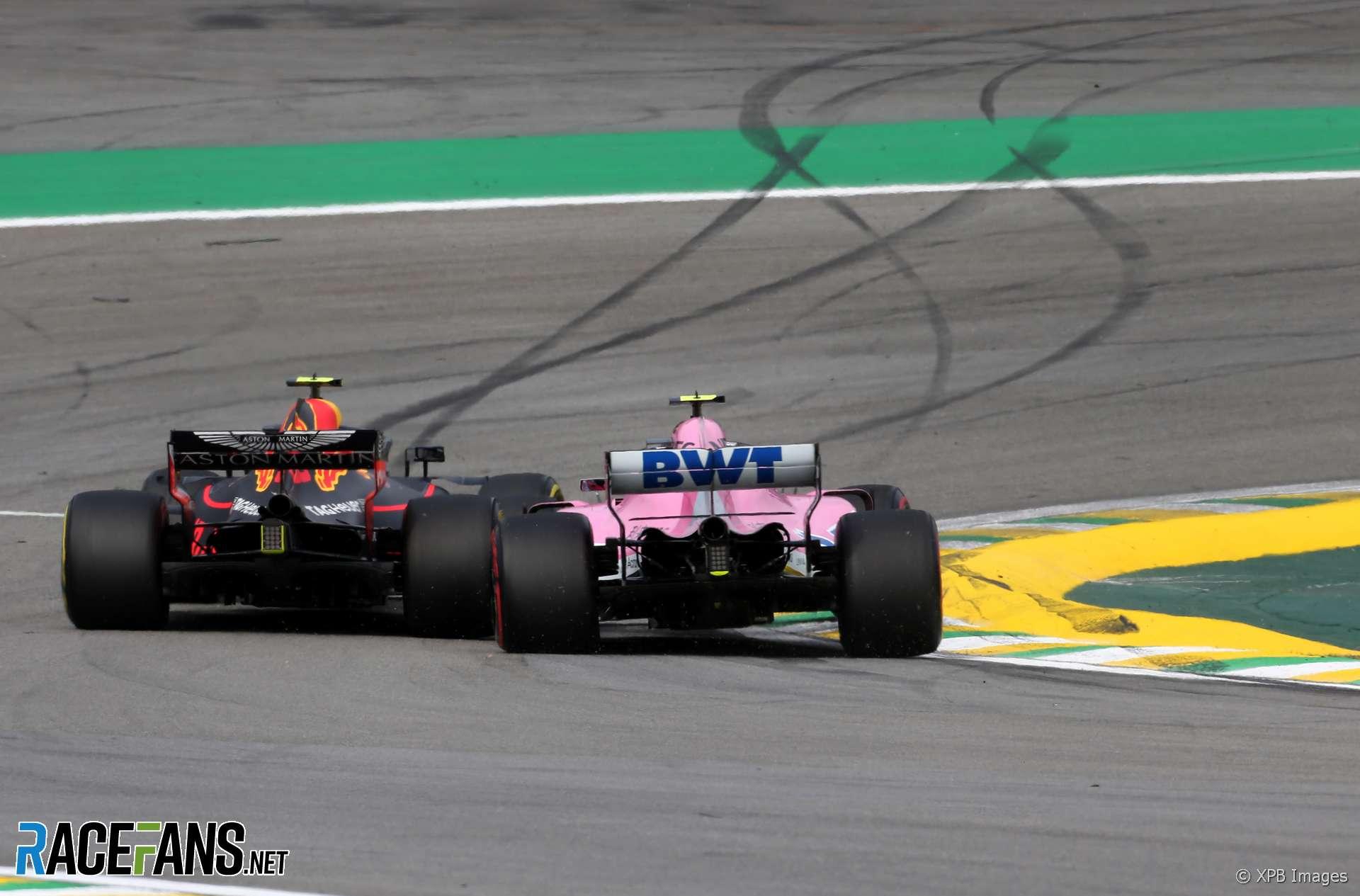 Max Verstappen, Esteban Ocon, Interlagos, 2018