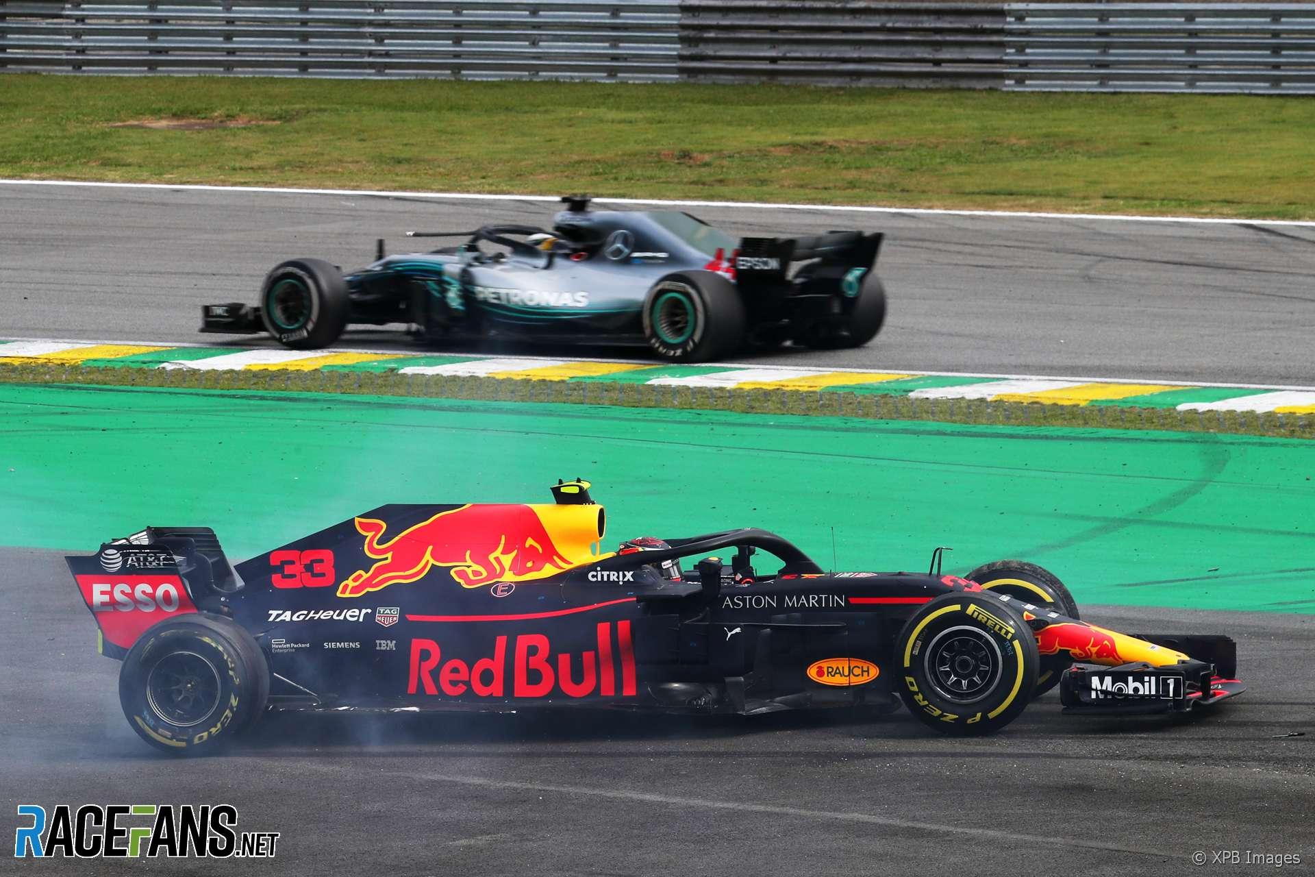 Max Verstappen, Lewis Hamilton, Interlagos, 2018