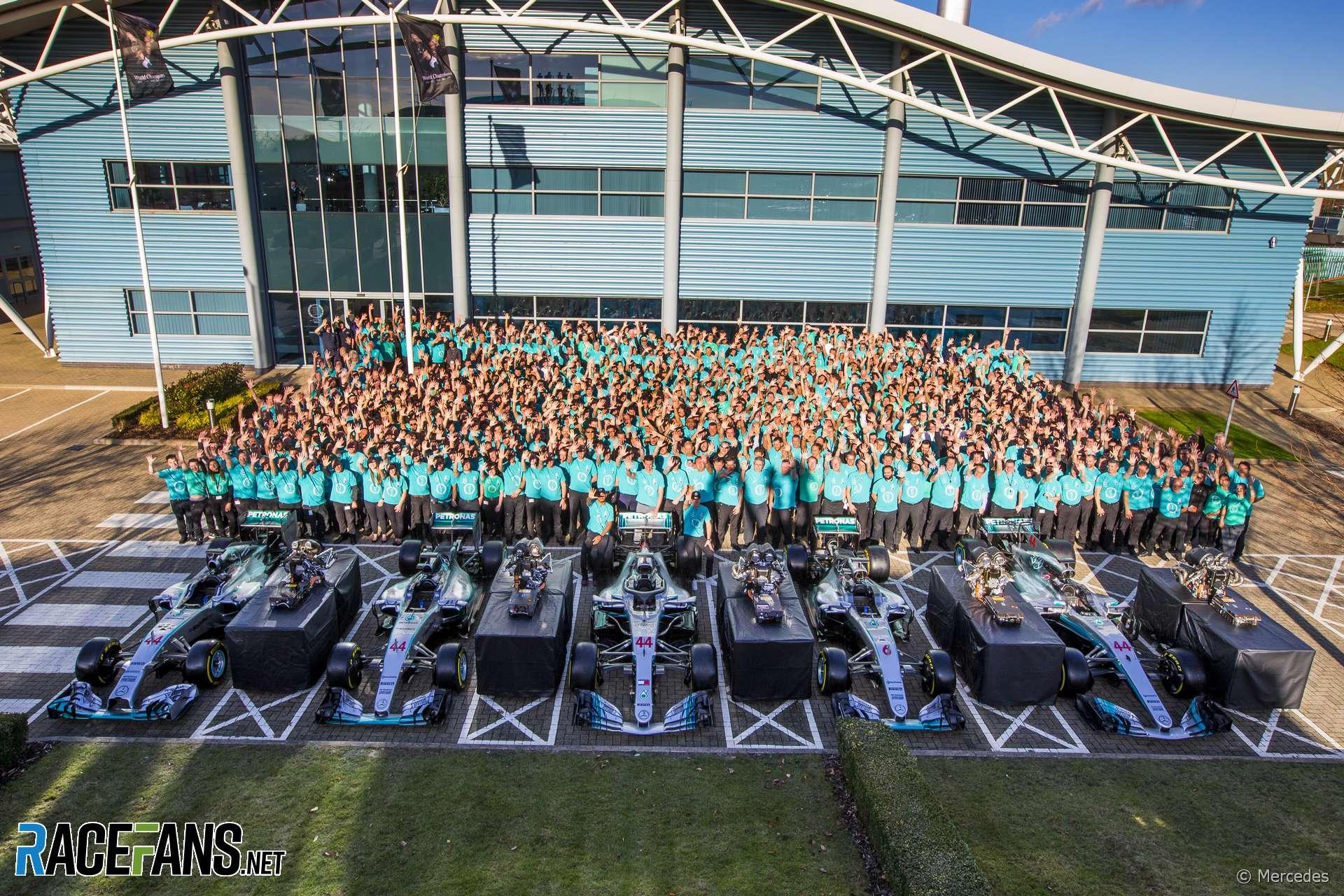 Mercedes 2018 championship celebrations