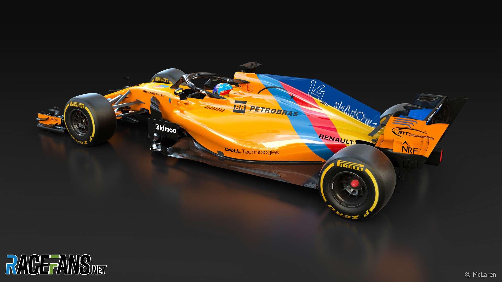 Fernando Alonso final race livery, McLaren, Abu Dhabi, 2018