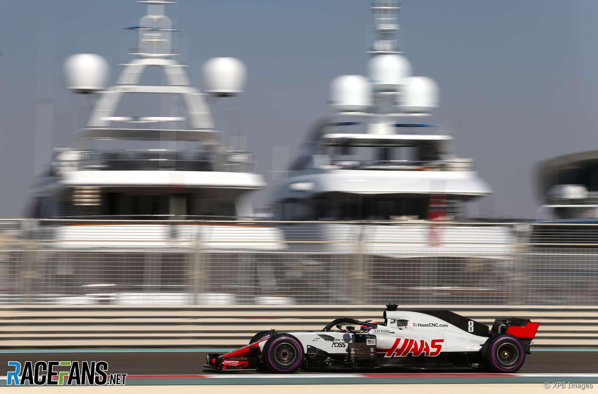 Romain Grosjean, Haas, Yas Marina, 2018