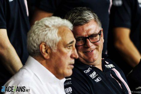 Lawrence Stroll, Otmar Szafnauer, Force India, 2018
