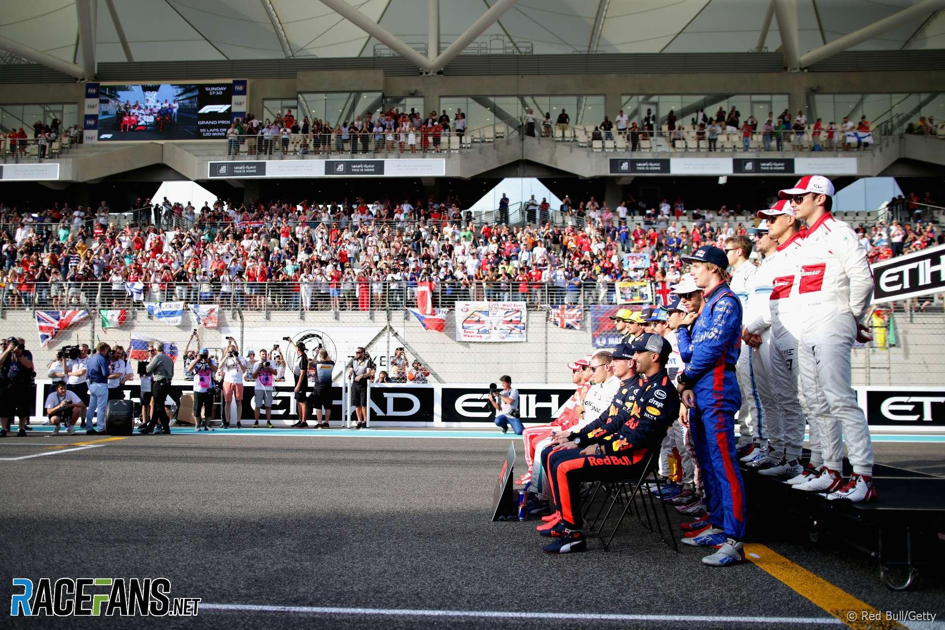 Drivers, Red Bull, Yas Marina, 2018
