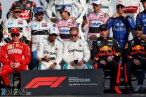 F1 drivers, Yas Marina, 2018