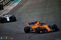 Stoffel Vandoorne, McLaren, Yas Marina, 2018