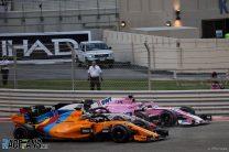 Sergio Perez, Romain Grosjean, Fernando Alonso, Yas Marina, 2018