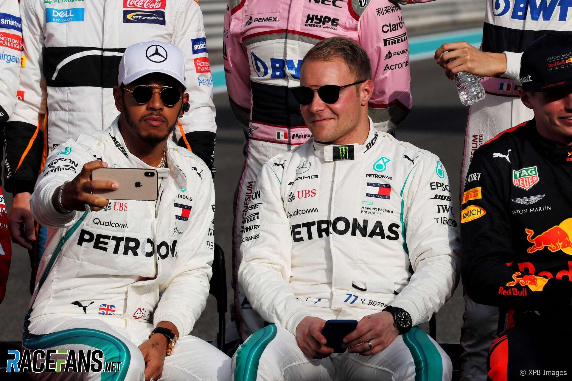 Lewis Hamilton, Valtteri Bottas, Mercedes, Yas Marina, 2018