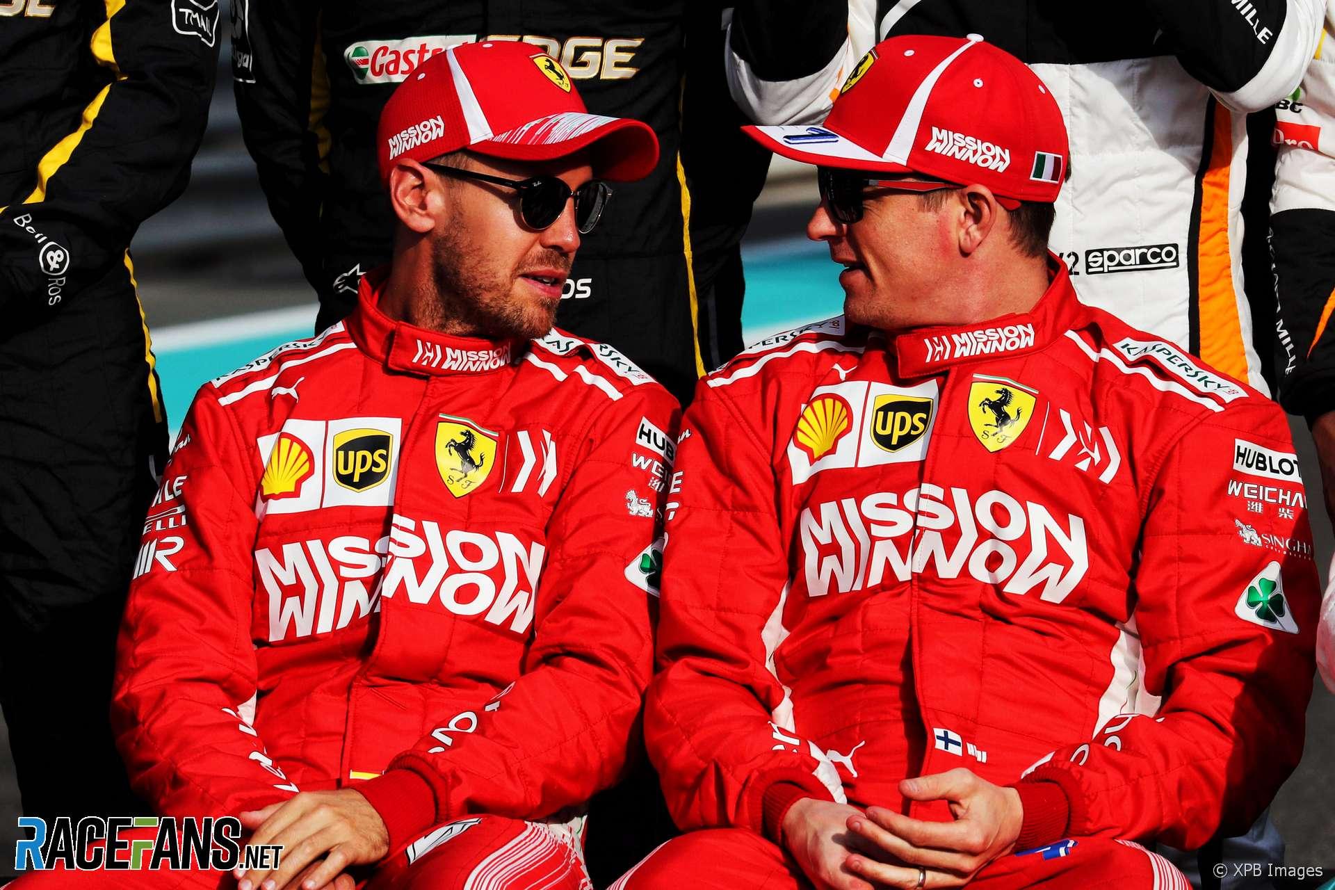 Sebastian Vettel, Kimi Raikkonen, Yas Marina, 2018