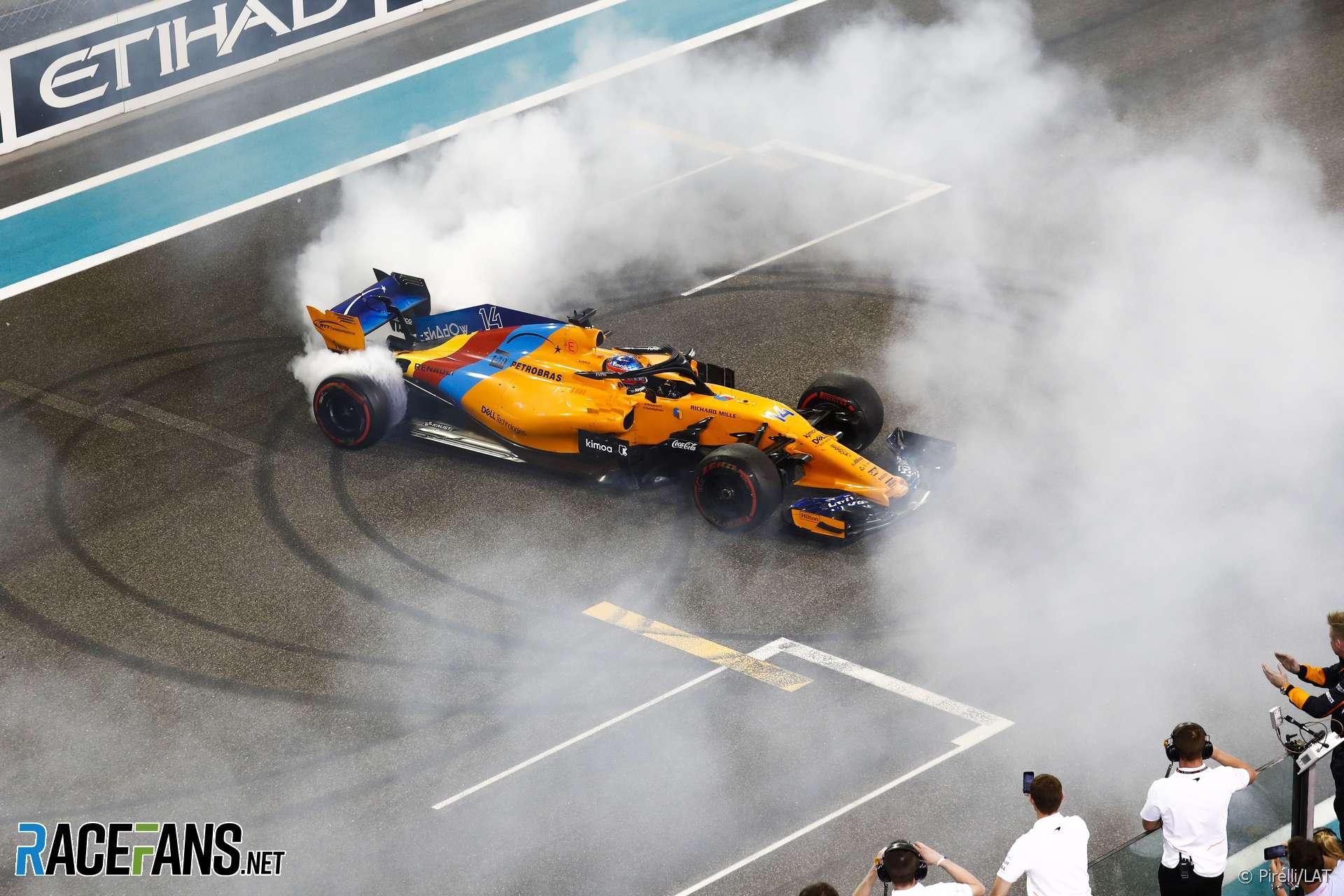 Fernando Alonso, McLaren, Yas Marina, 2018