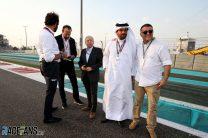 Jean Todt, Mohamed Bin Sulayem, Yas Marina, 2018ne World Championship - Abu Dhabi Grand Prix - Race Day - Abu Dhabi, UAE