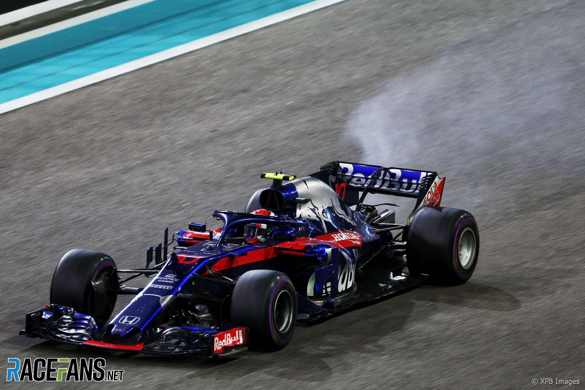 Pierre Gasly, Toro Rosso, Yas Marina, 2018
