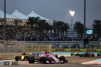 Sergio Perez, Force India, Yas Marina, 2018