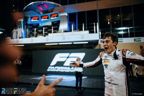 George Russell, Formula 2, Yas Marina, 2018