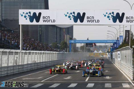 Start, Formula E, Beijing, 2014