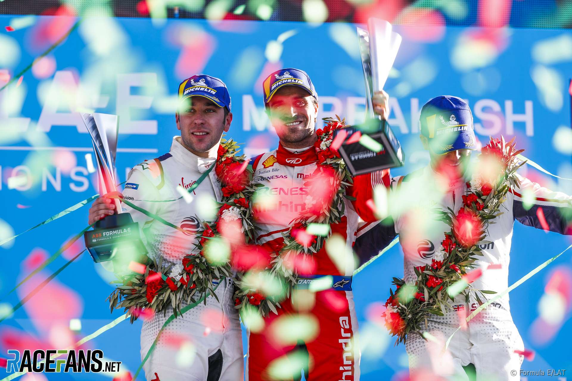 Robin Frijns, Jerome D'Ambrosio, Sam Bird, Formula E, Marrakech, 2019