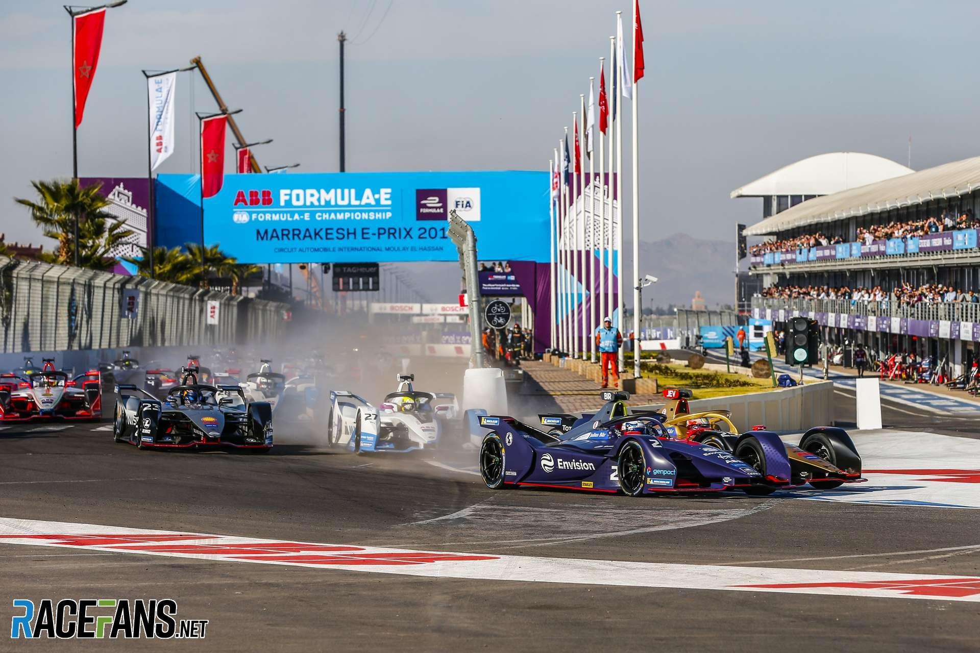 Start, Formula E, Marrakech, 2019