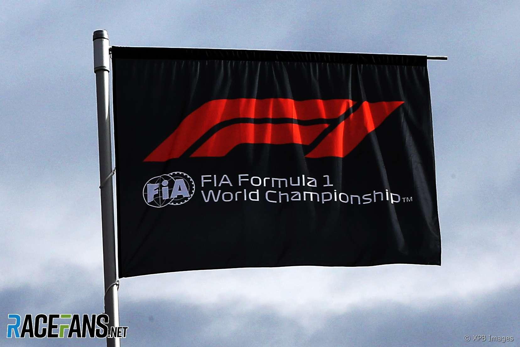 F1 flag, Red Bull Ring, 2018