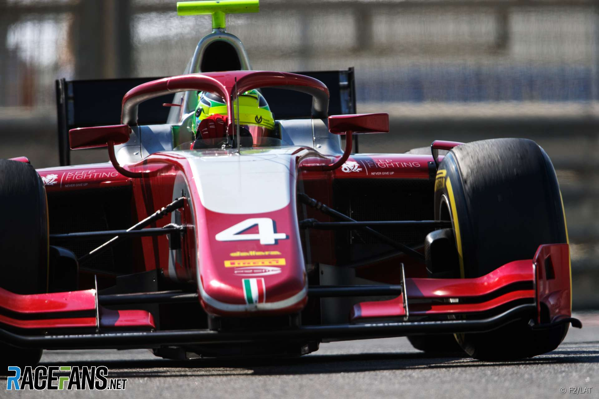 Mick Schumacher, Prema, Formula Two, Yas Marina, 2018