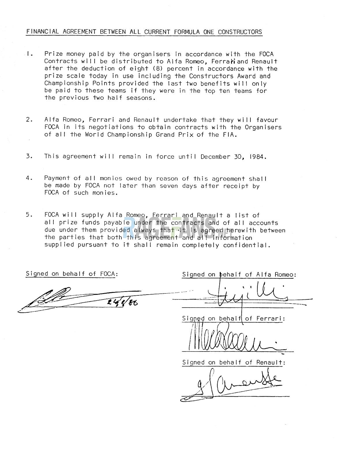 WPDC financial agreement · RaceFans