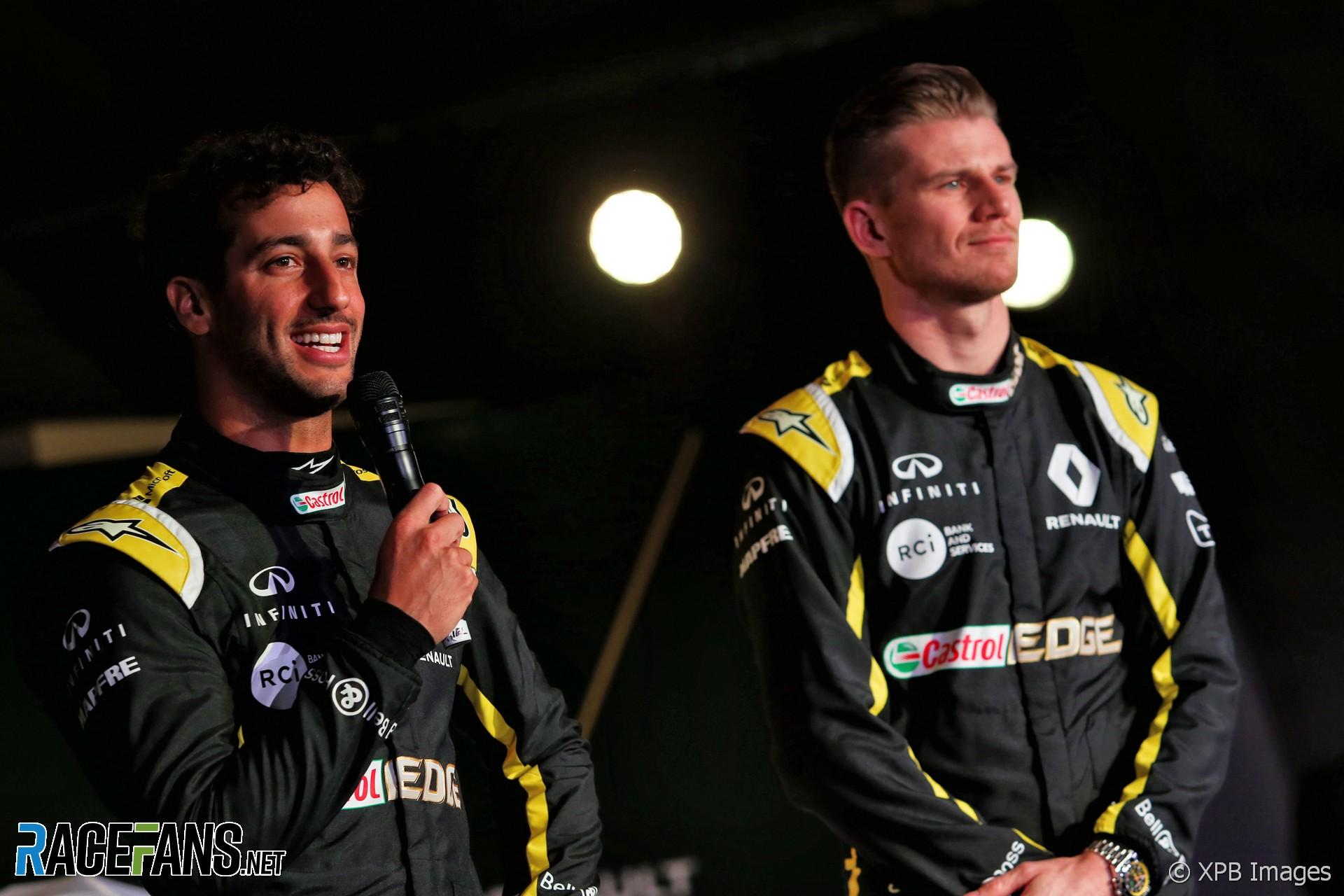 Daniel Ricciardo, Nico Hulkenberg, Renault F1 livery launch, 2019