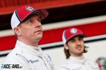 Kimi Raikkonen, Antonio Giovinazzi, Alfa Romeo C38 presentation, Circuit de Catalunya, 2019