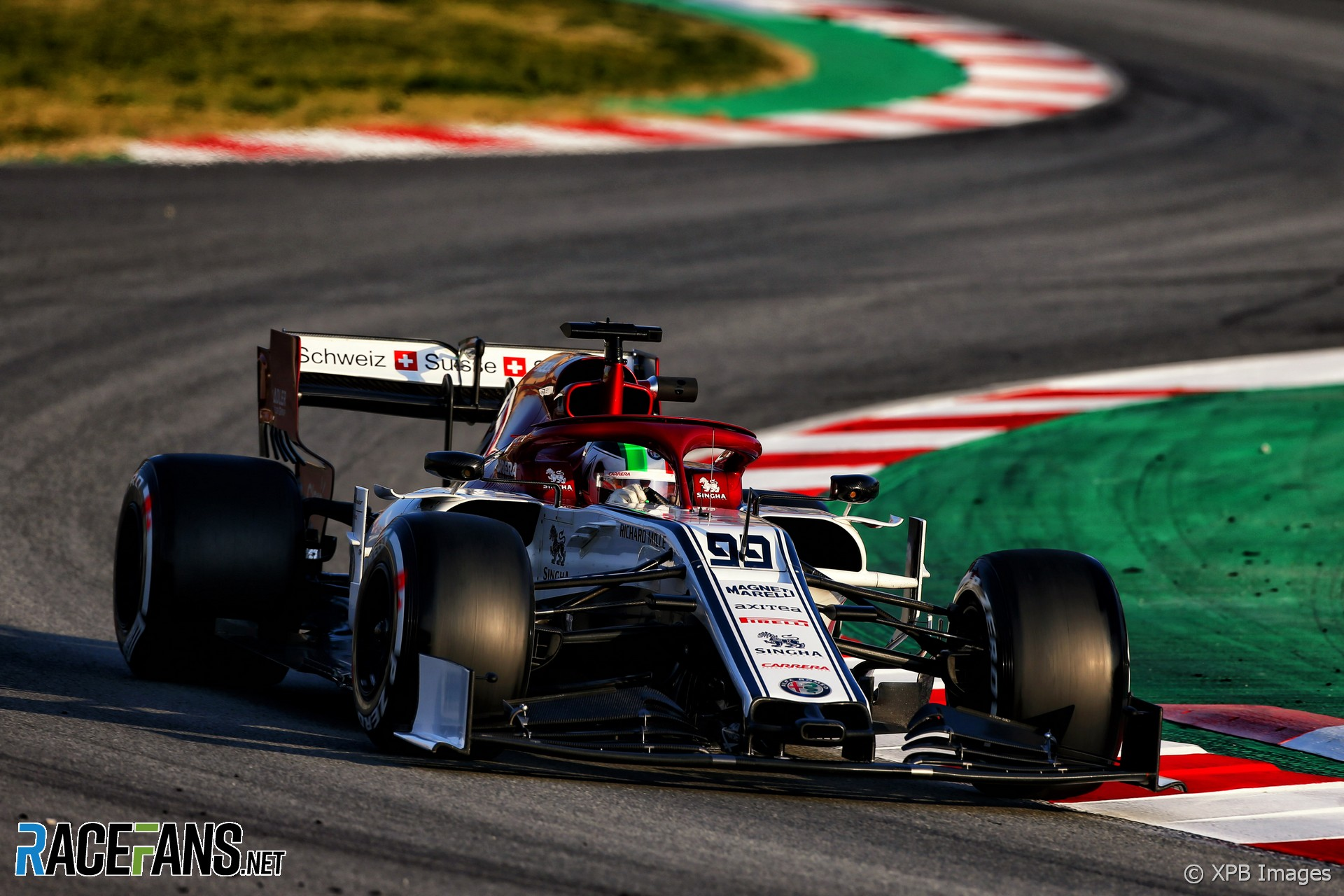 Antonio Giovinazzi, Alfa Romeo, Circuit de Catalunya, 2019