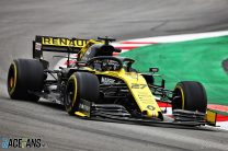 Hulkenberg's Renault fastest at end of first test