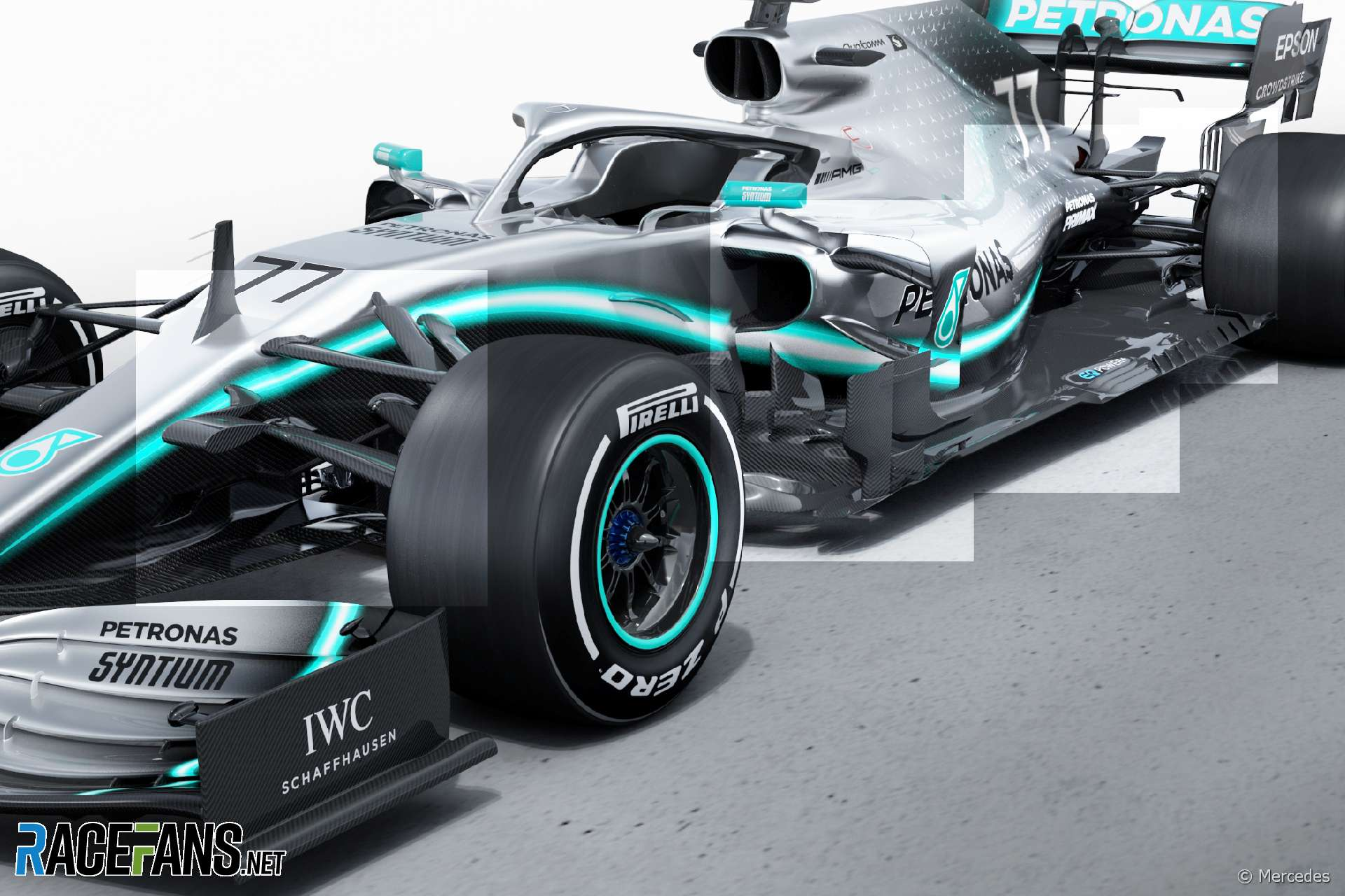 Hamilton hungry for more as new Mercedes makes track debut