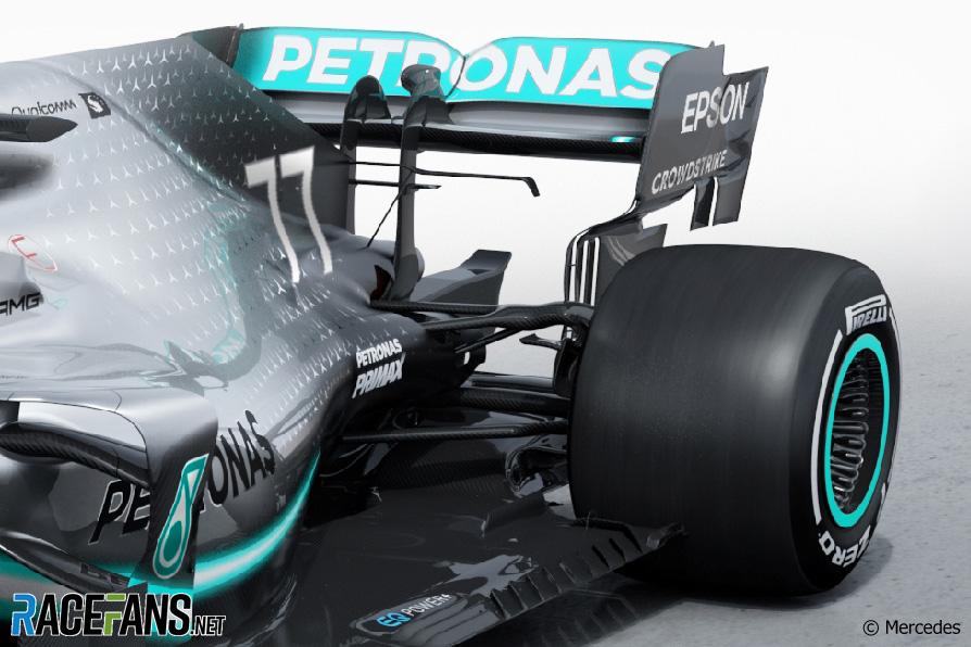 Mercedes W10 rear suspension, 2019