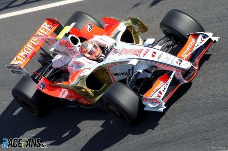 Vitantonio Liuzzi, Force India, Circuit de Catalunya, 2008