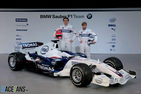 Robert Kubica, Nick Heidfeld, BMW Sauber launch, 2007