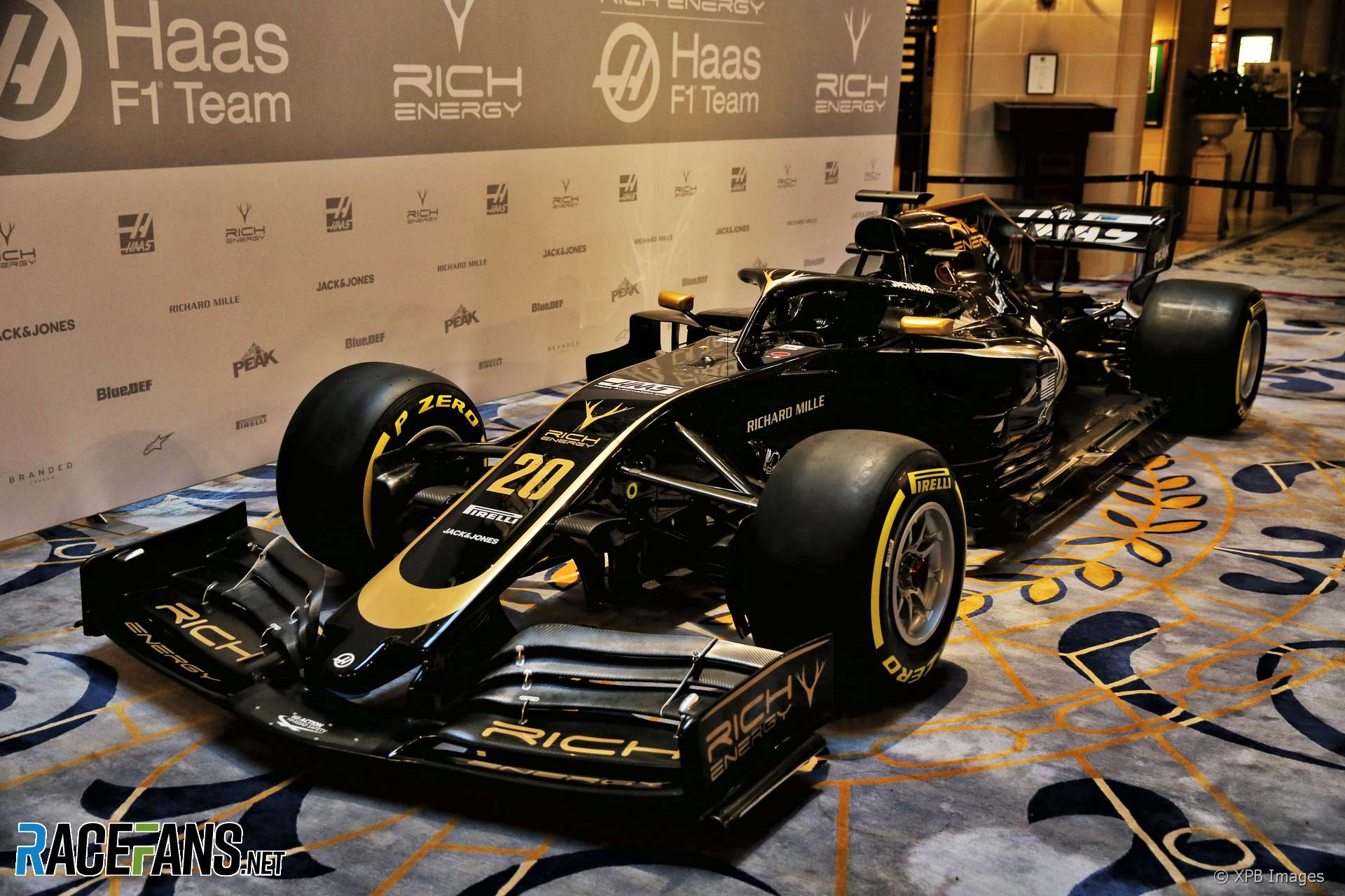Haas livery launch, Royal Automobile Club, 2019