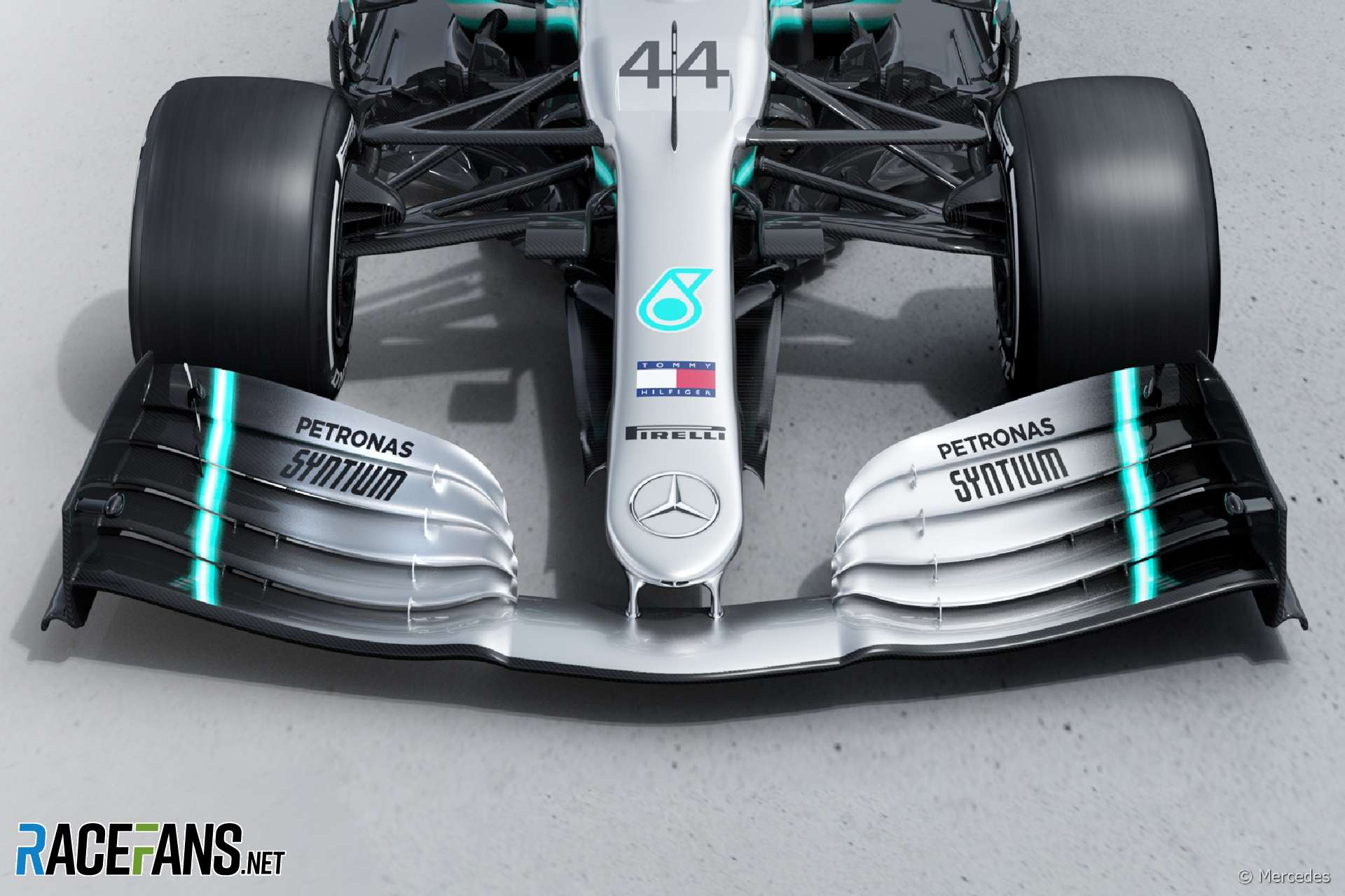 Mercedes W10 front wing, 2019