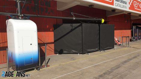 Williams garage, Circuit de Catalunya, 2019