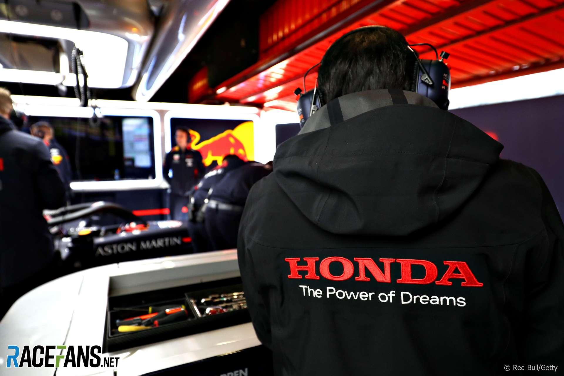 Honda technician, Red Bull, Circuit de Catalunya, 2019