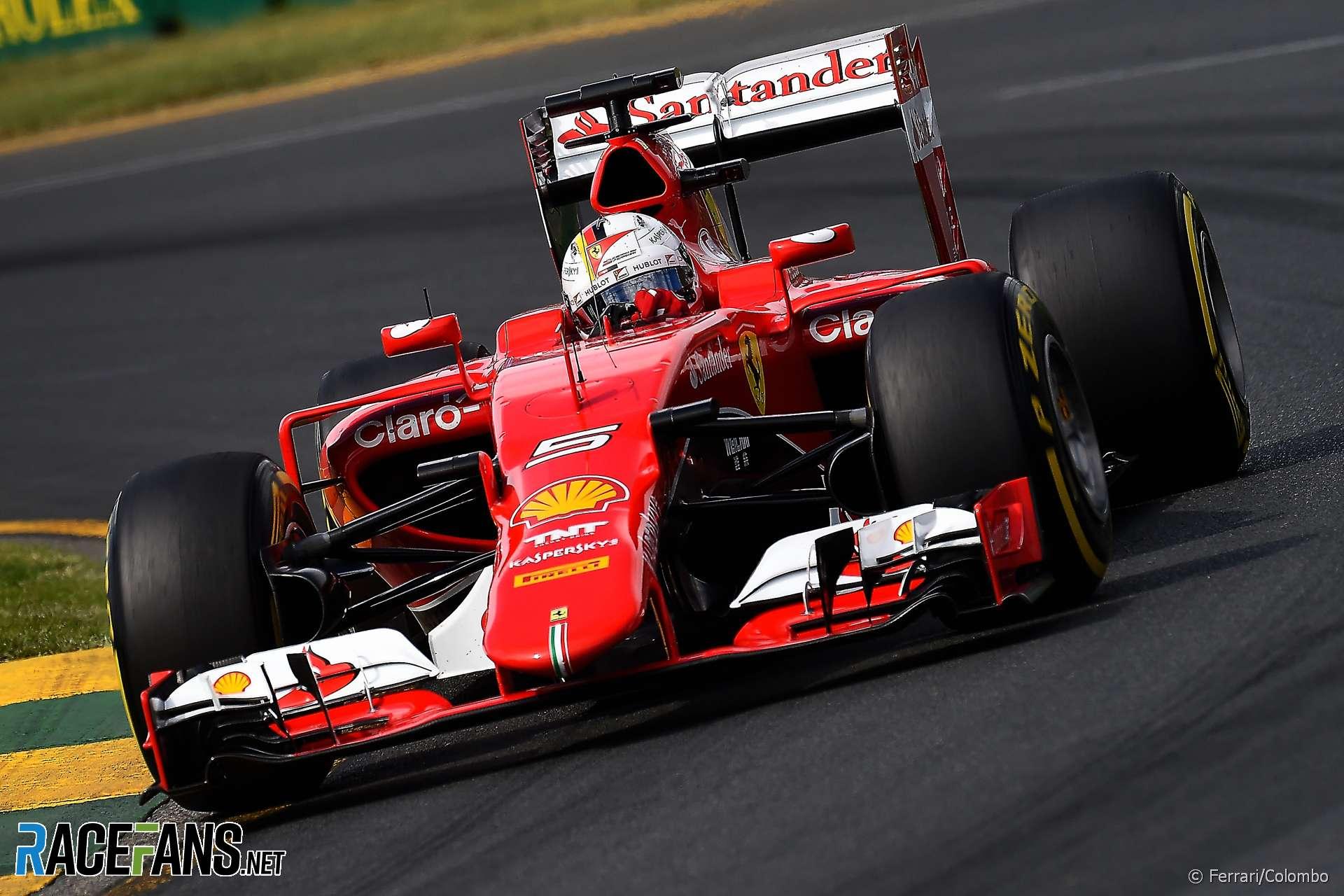 Sebastian Vettel, Ferrari, Melbourne, 2015