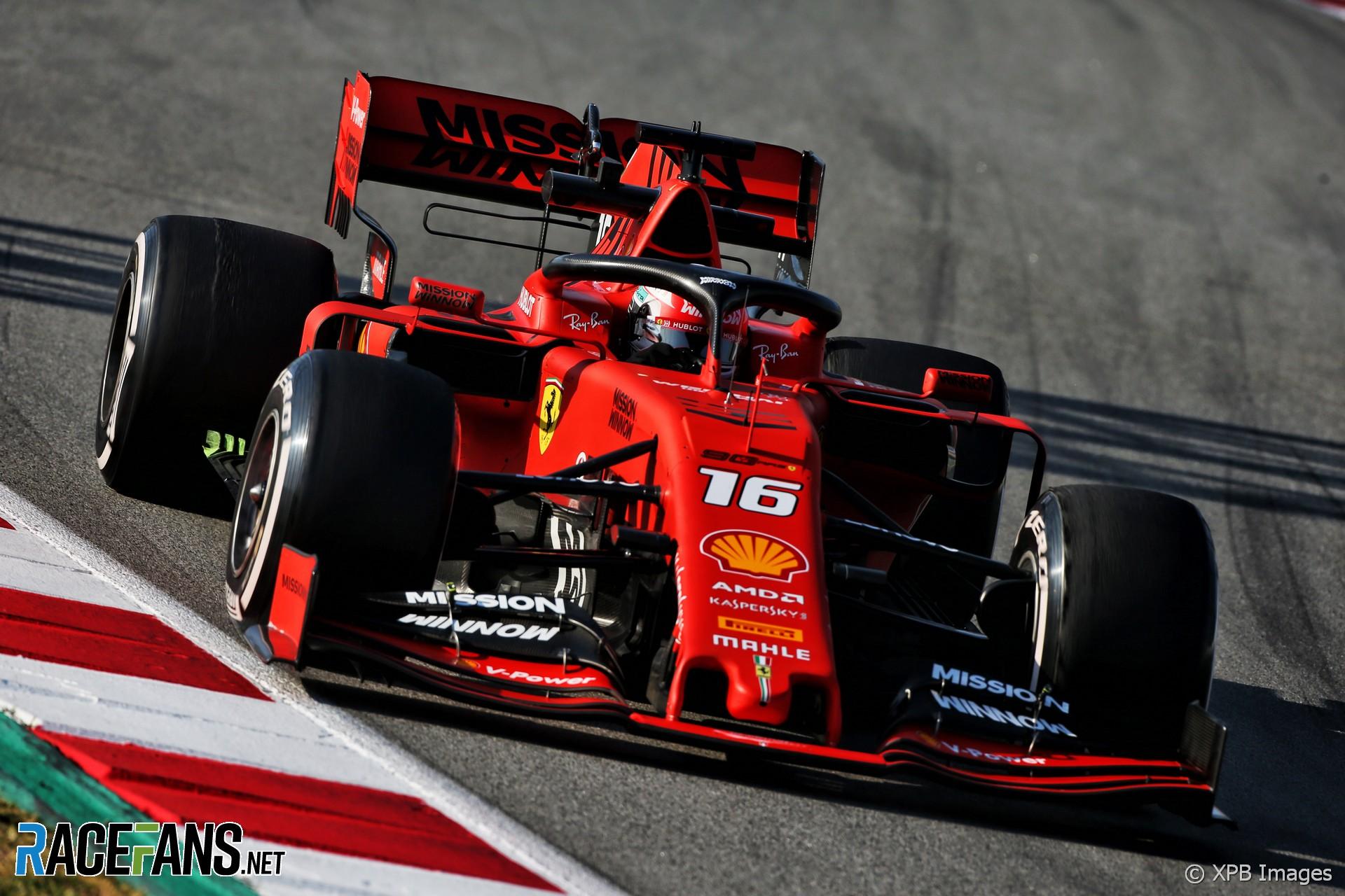 Charles Leclerc Ferrari Circuit De Catalunya 2019 Racefans
