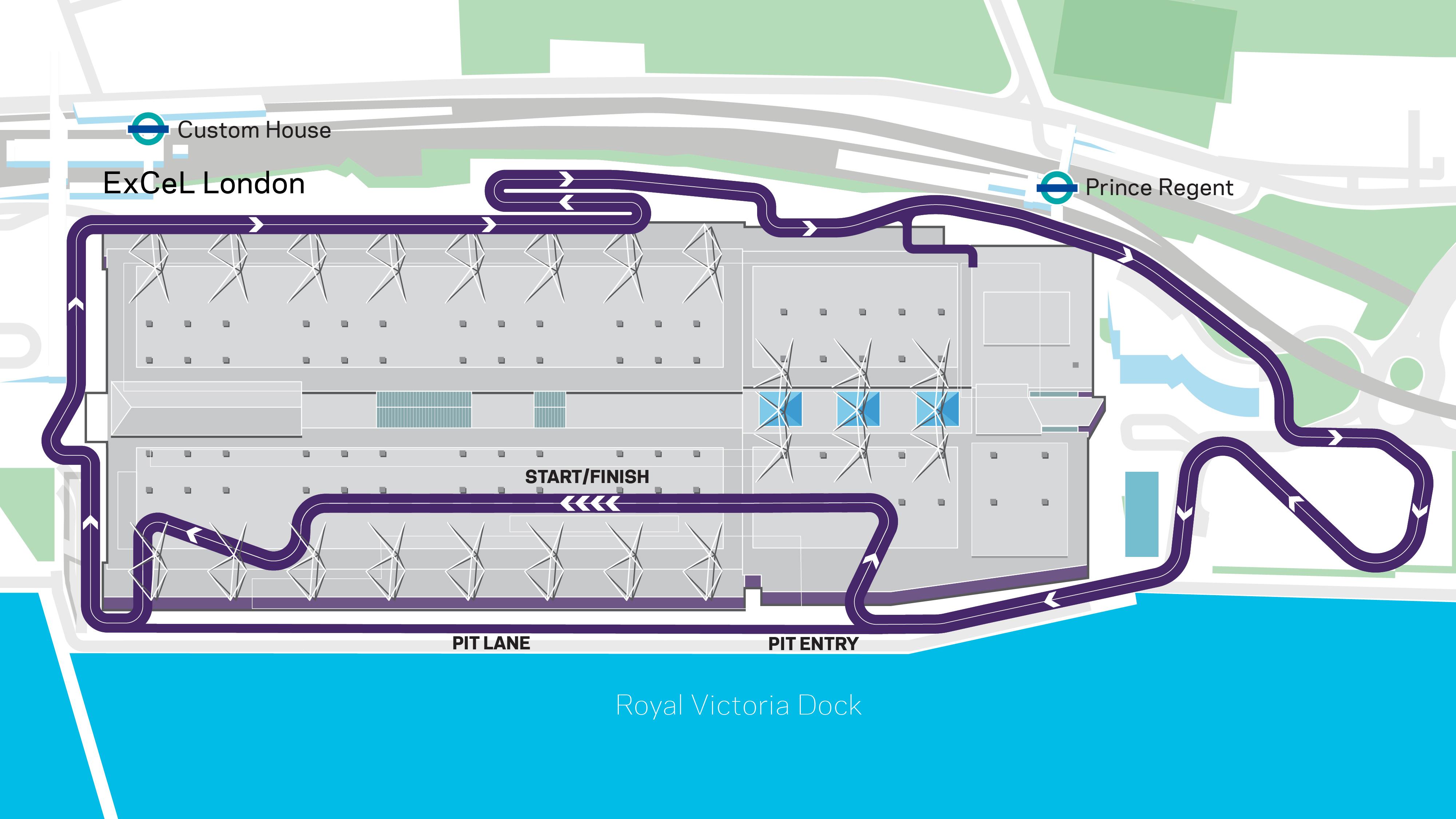 Formula E London 2020 track