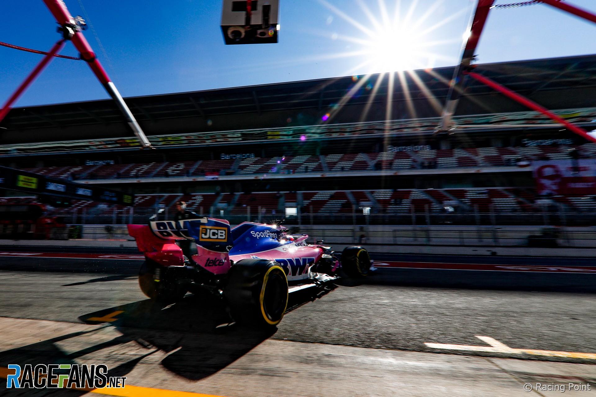 Sergio Perez, Racing Point, Circuit de Catalunya, 2019